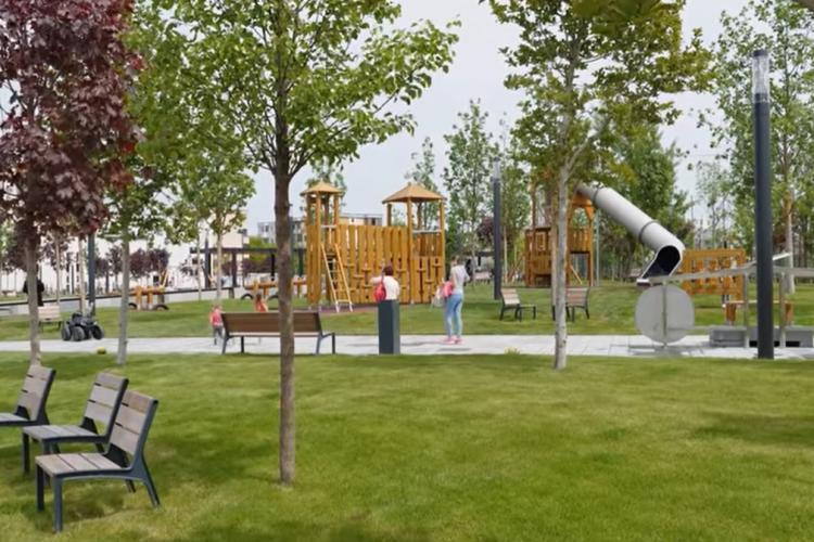 S-a deschis un nou parc la Cluj-Napoca. Cum arată VIDEO