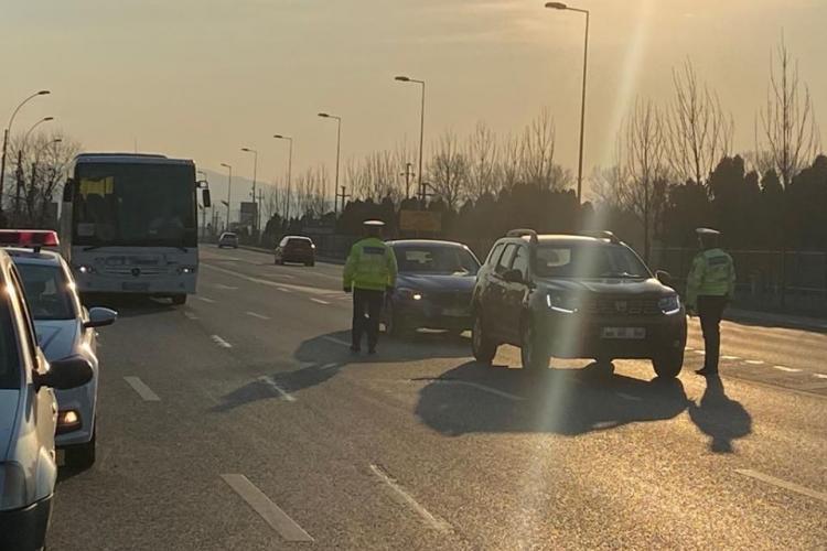 Razie de amploare la Cluj, pentru depistarea vitezomanilor. Un șofer a fost prins gonind cu 76 km/h peste limita legală