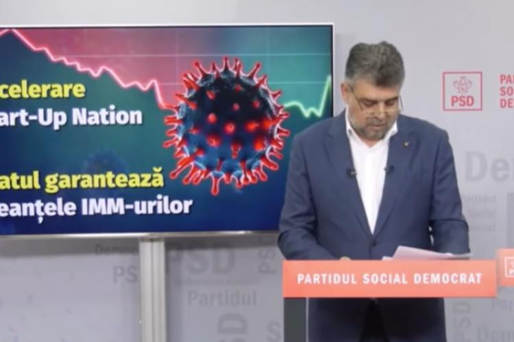 Șeful PSD, Marcel Ciolacu, la un pas de leșin în timpul unei conferințe de presă VIDEO