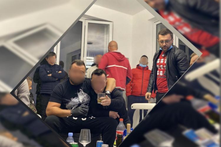 Polițist clujean amendat pentru că a participat la o petrecere în ciuda Ordonanțelor militare