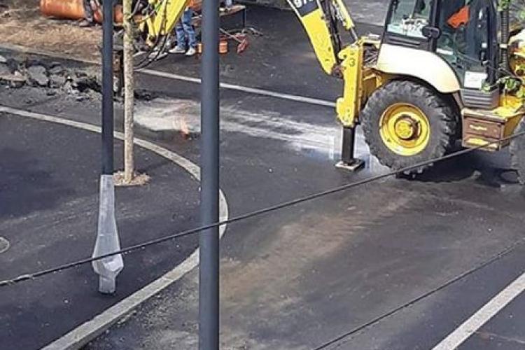 Este spartă prima stradă smart din Cluj, Molnar Piuariu, înainte de inaugurare - FOTO