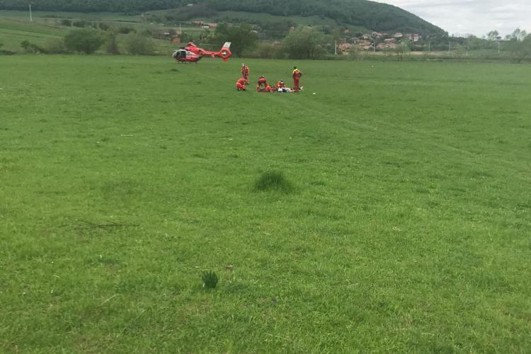 CLUJ: Alpinist căzut de la peste 20 de metri înălțime la Cheile Turzii! A fost nevoie de intervenția elicopterului SMURD FOTO/VIDEO