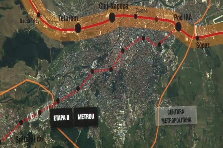 Metroul Cluj va avea 20 de kilometri și pornește din Florești și va fi unul de suprafață, până în Mănăștur