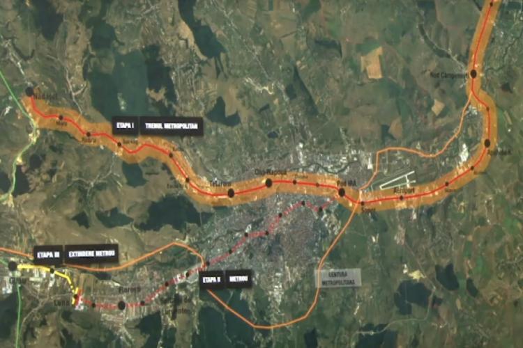 Cluj: S-a semnat contractul pentru studiul de fezabilitate al trenului metropolitan. Durează câțiva ani și se face pe linia de cale ferată care există