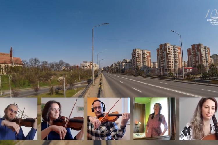 Artiștii Operei Naționale Române din Cluj-Napoca transmit un mesaj liric de solidaritate și speranță - VIDEO