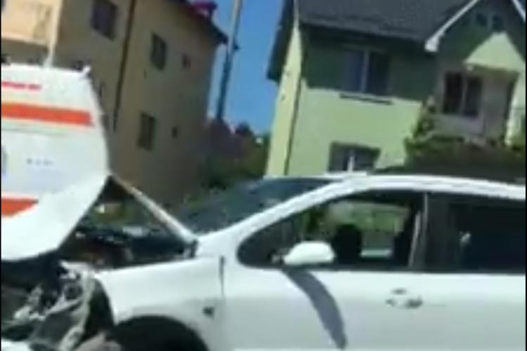 Accident pe strada Corneliu Coposu. Ciocnire în lanț - VIDEO