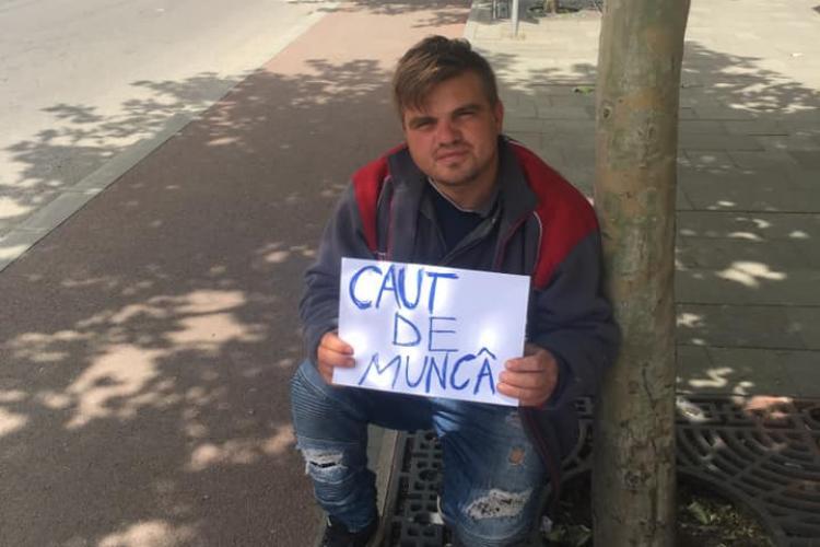 CLUJ: Un tânăr crescut la casa de copii are nevoie de ajutor pentru a-și găsi un loc de muncă FOTO