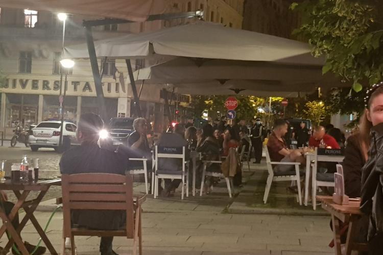 Razie la Che Guevara, în Cluj-Napoca. Poliția a descins să vadă dacă se respectă distanța socială - VIDEO