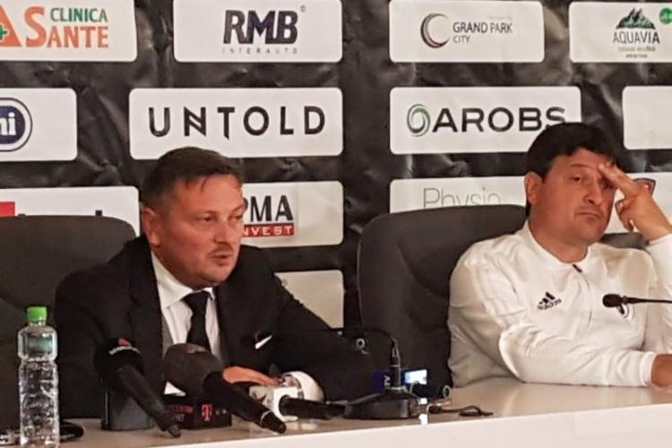 """U Cluj se bucură că nu joacă pentru că """"ne-ar fi produs o gaură foarte mare pe plan financiar"""""""