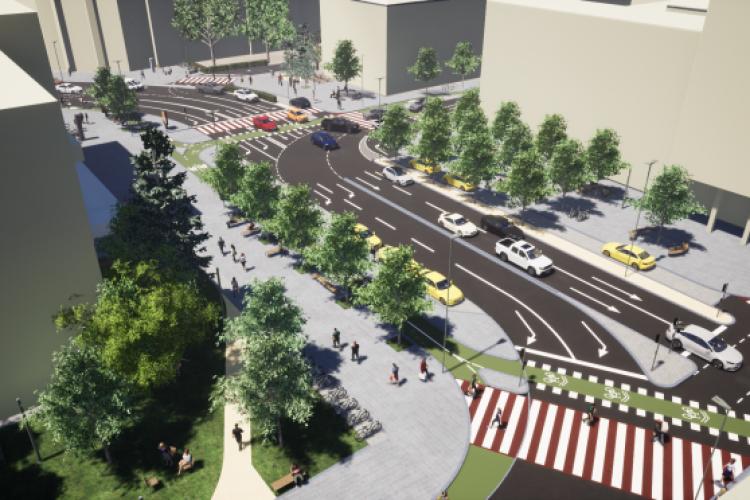 Au început lucrările de modernizare în Piața Blaga și pe străzile adiacente. Când vor fi gata