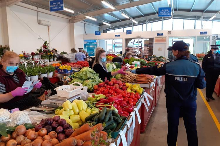 Controale în piață și în magazinele din Zorilor. Câte amenzi au dat polițiștii