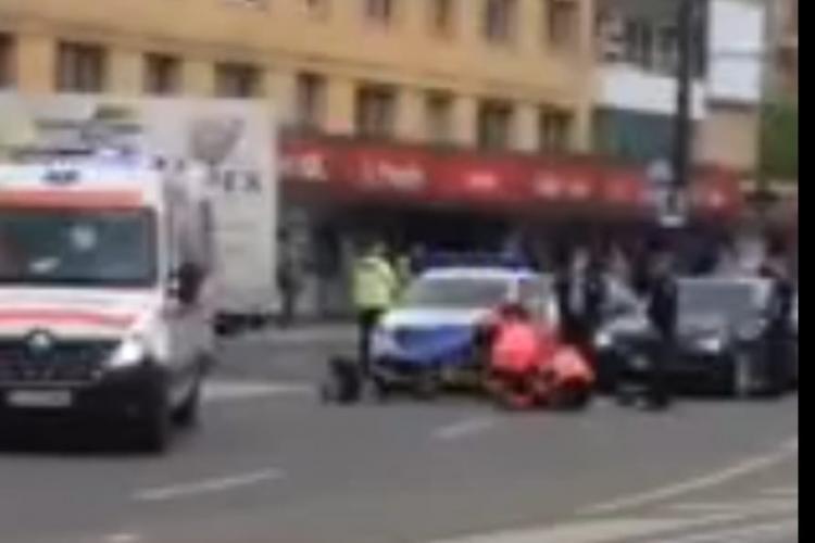 Pieton lovit de mașină în zona Gării din Cluj-Napoca FOTO