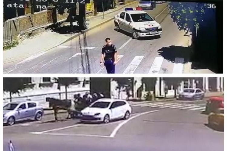 Trei dintre scandalagiii care s-au luat la bătaie în trafic la Dej au fost reținuți de polițiști