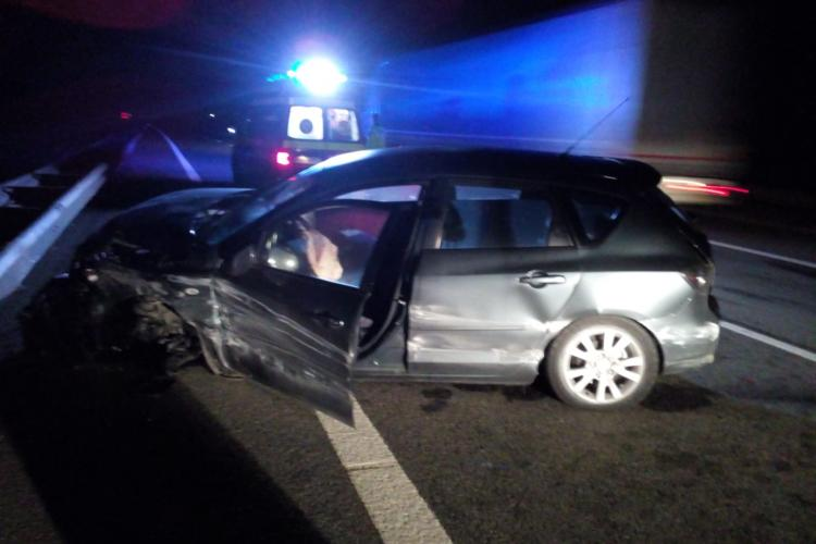 Accident pe Autostrada Transilvania, pe sensul Gilău - Turda - FOTO