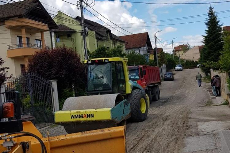 Două străzi private din Cluj-Napoca au intrat în domeniul public, iar acum sunt reparate FOTO
