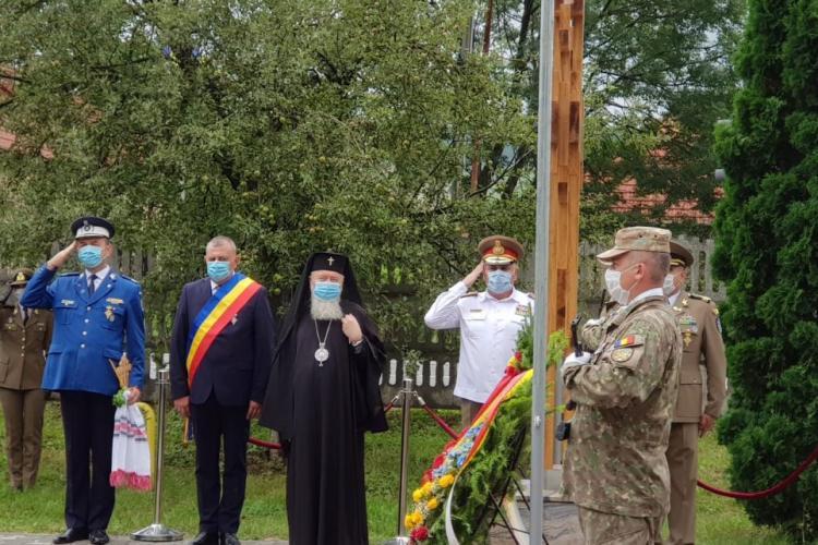 """Troiță dedicată Eroilor militari dezvelită la Regimentul 50 Rachete Antiaeriene """"Andrei Mureșianu"""" Florești"""