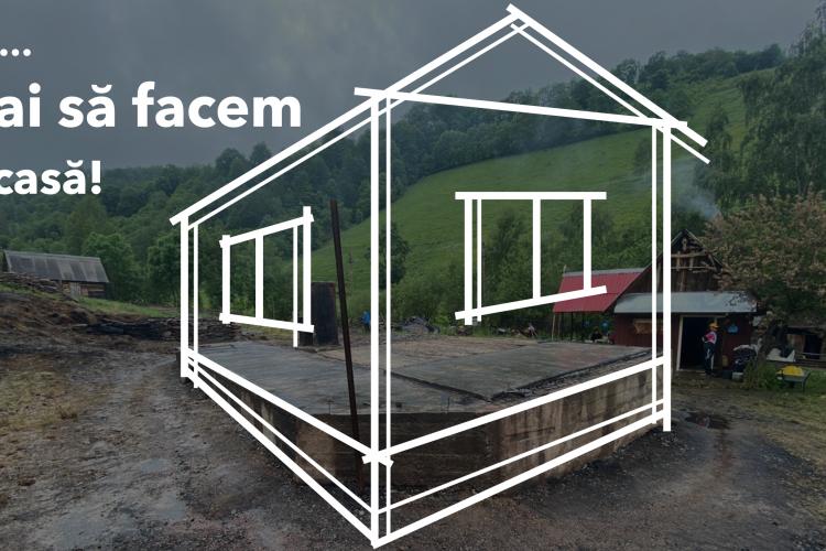 Se adună DONAȚII pentru familia din Muntele Cacovei, Băișoara, rămasă fără casă în urma unui incendiu