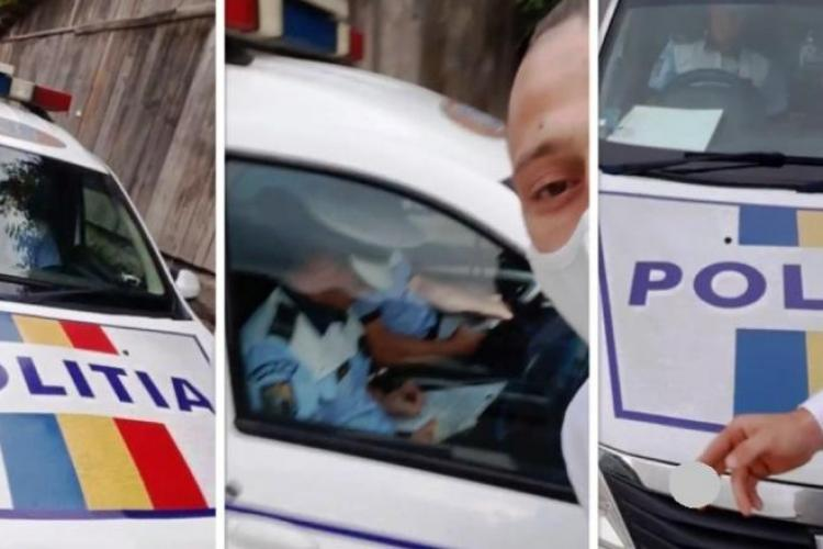 Un tânăr a filmat polițiști fără mască în Alba! A fost încătușat și amendat - VIDEO