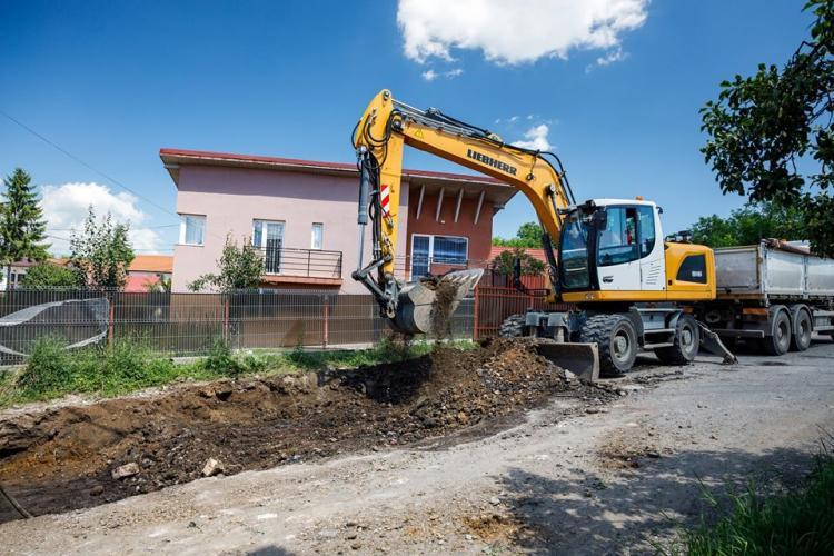 Primăria Cluj-Napoca a început lucrările de modernizare a străzii Valea Fânațelor FOTO