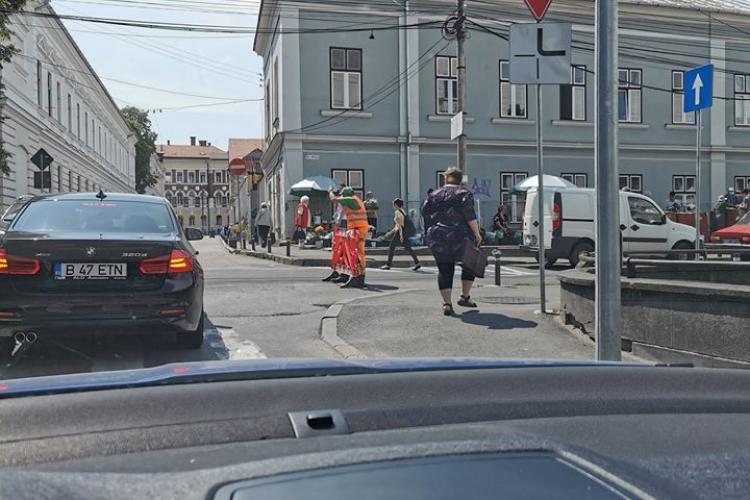 Strada Argeș, de lângă Piața Mihai Viteazu, închisă pentru lucrări - FOTO