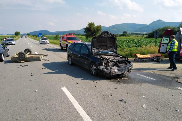 Accident grav la Câțcău. Se circulă alternativ - FOTO