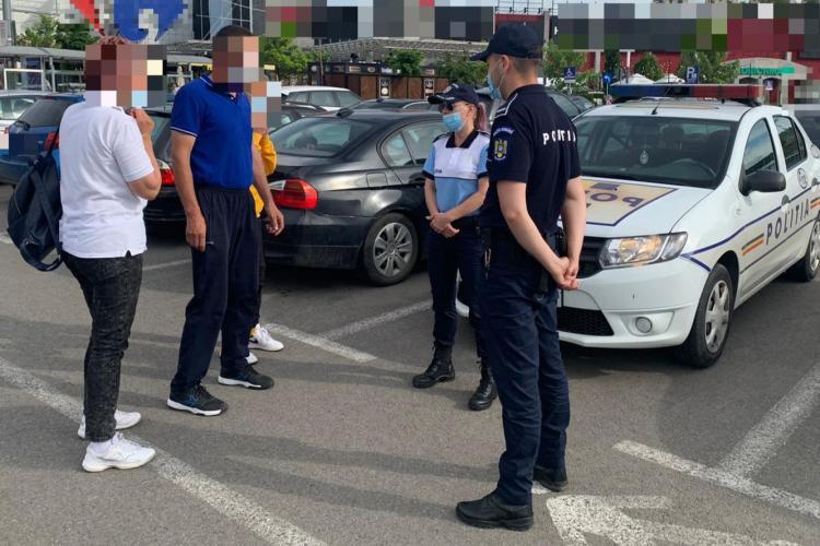 Razie de amploare la Cluj-Napoca. S-a acționat în zona mall-urilor FOTO