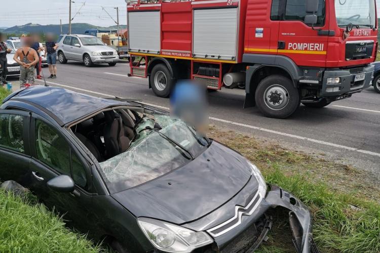 Accident la Iclod! O femeie a ajuns la spital FOTO