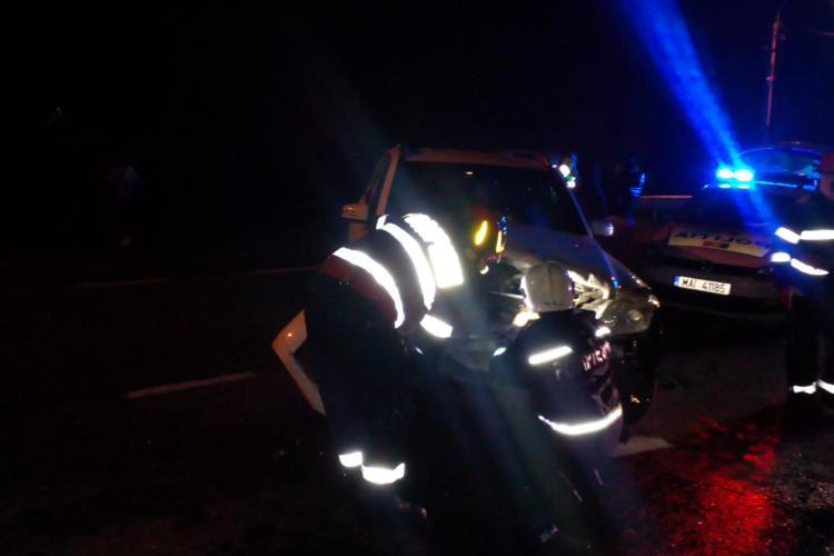 Accident cu două mașini la Cuzdrioara. Șoferii au scăpat ca prin minune FOTO