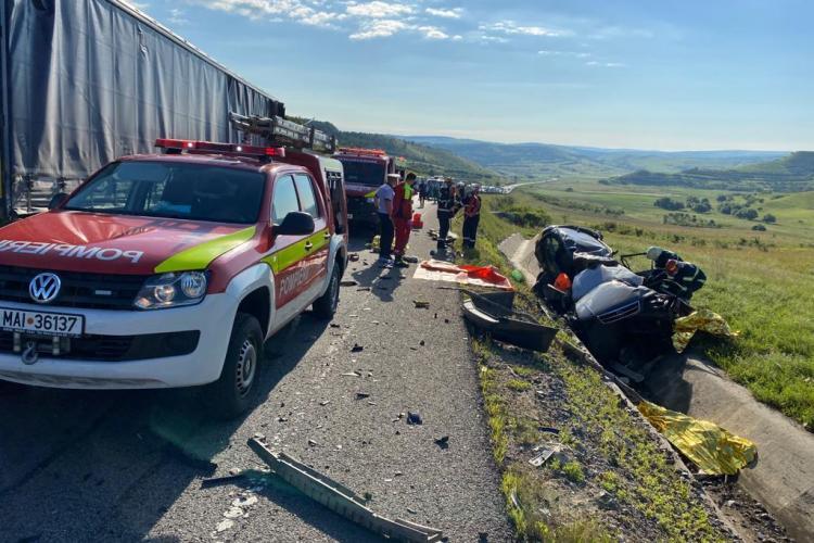 FOTO / VIDEO - Accident cu trei morți de pe centura Vâlcele - Apahida