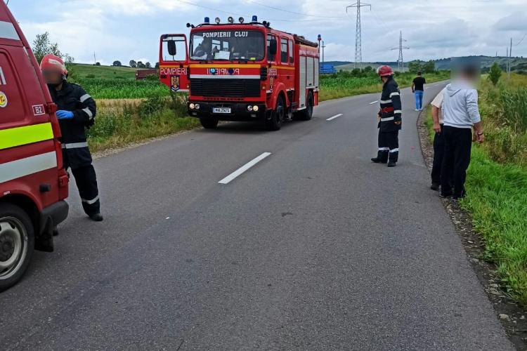 Accident cu o victimă la Aghireșu Fabrici. O femeie a ajuns la spital FOTO