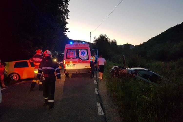 Accident cu multiple victime pe un drum din Cluj FOTO /VIDEO