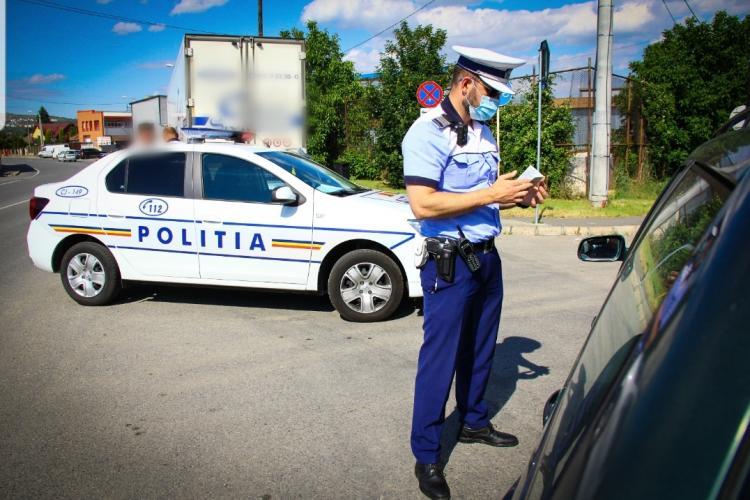 Razie de amploare în trafic, la Cluj-Napoca. Câte amenzi au dat polițiștii în doar 3 ore FOTO