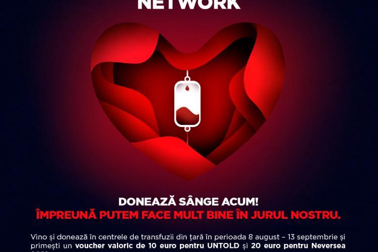 Campania Blood Network continuă! Donează sânge și mergi la UNTOLD sau NEVERSEA
