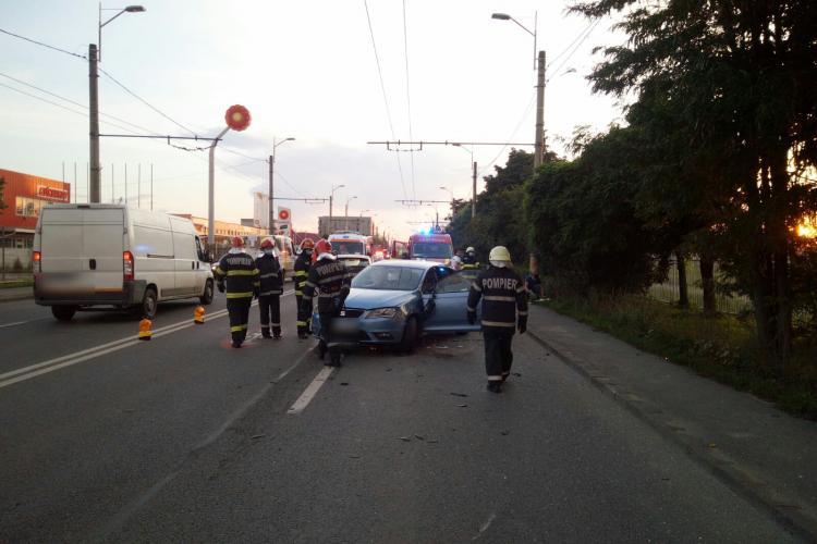 Accident cu șase victime pe Traian Vuia. Trei dintre răniți sunt copii FOTO