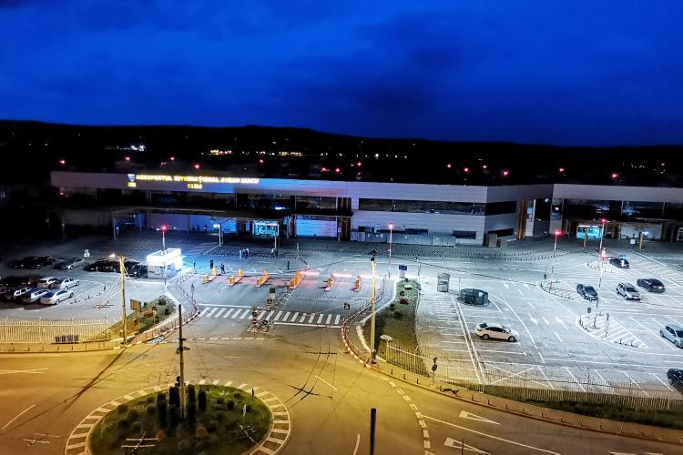 Angajații de la Aeroportul Cluj protestează împotriva firmei care administrează parcarea