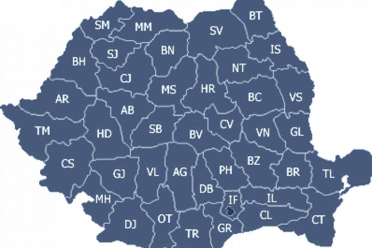 Care sunt județele cu cele mai multe cazuri noi de coronavirus. Unde se situează Clujul