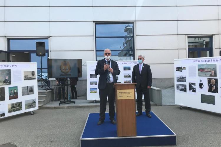 Fotografii de arhivă cu Aeroportul Cluj, Aurel Vlaicu și Henri Coandă prezentate în cadrul unei expoziții la Aeroport - VIDEO