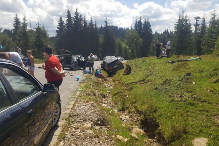 UPDATE Accident cu cinci victime pe drumul spre Beliș. A fost necesară intervenția elicopterului SMURD FOTO/VIDEO