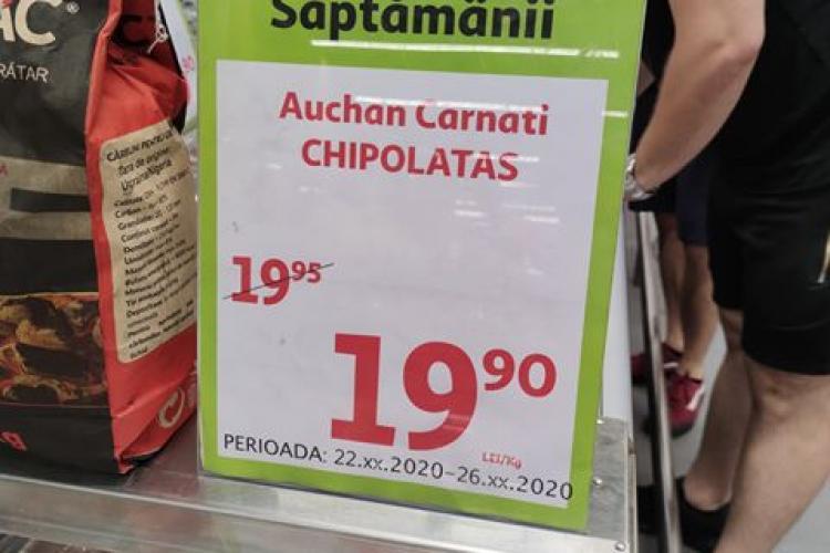 Auchan Cluj se laudă cu reduceri de 50% și apoi vine cu ASTA: Super reducere în Auchan Iulius de 5 BANI!!!