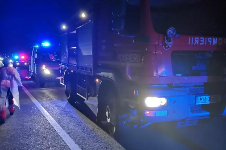 Accident cu două victime pe drumul Cluj-Dej, cauzat de un șofer de 77 de ani FOTO