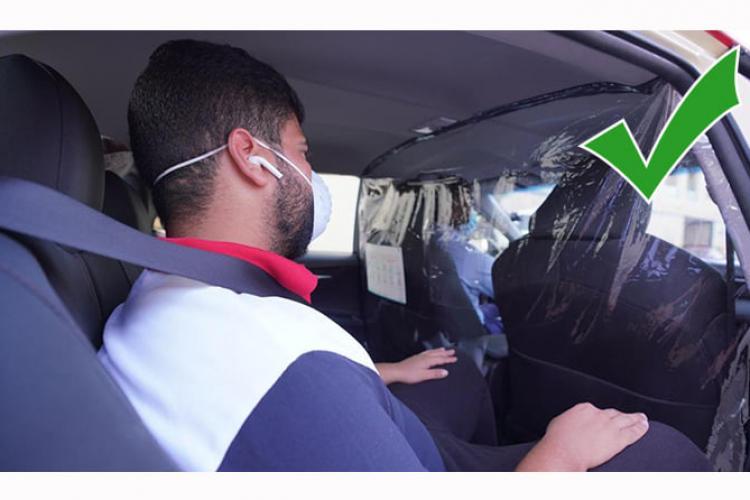 Cum se face corect și elegant delimitarea zonei șoferului de bancheta din spate - FOTO