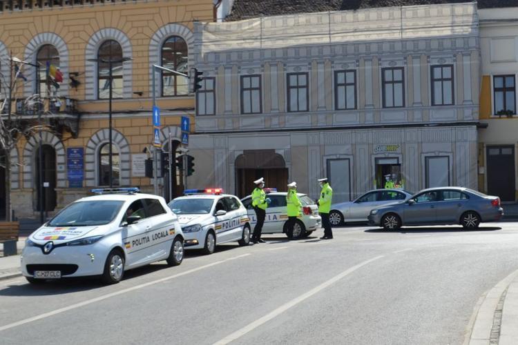 Razie de amploare  la Cluj-Napoca, pentru prevenirea răspândirii COVID-19. Polițiștii au acționat și la Tarnița și Băile Cojocna