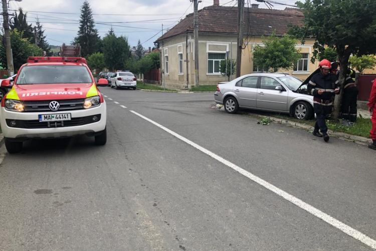 Accident în Dej, pe strada Horea. Nu s-a acordat prioritate - FOTO