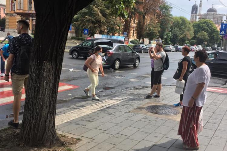 Accident în centrul Clujului, lângă Teatru FOTO
