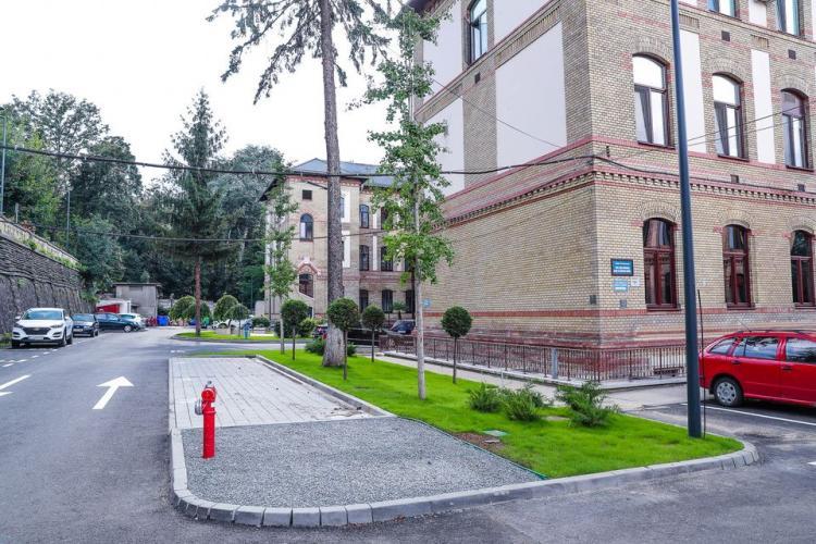 Curtea Spitalului Clinic Județean Cluj a fost refăcută. Urmează Complexul de Neuro-Psihiatrie - FOTO