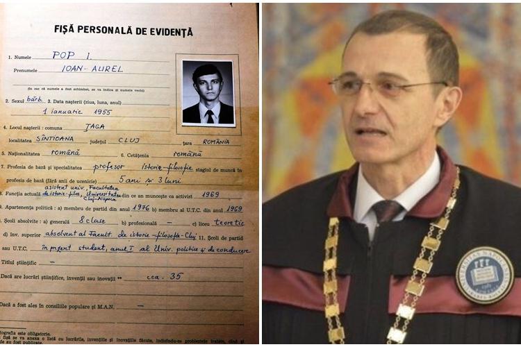 Dosarul din Uniunea Tineretului Comunist (UTC) al președintelui Academiei Române, Ioan Aurel Pop, publicat de subprefectul de Cluj