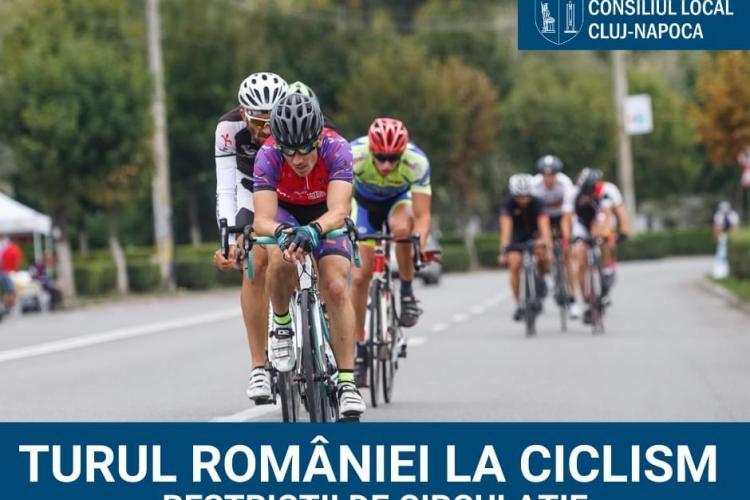ATENȚIE, șoferi! Restricții de trafic la Cluj-Napoca din cauza Turului României la Ciclism