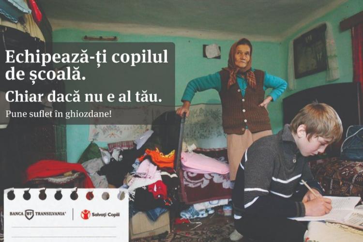 Banca Transilvania şi Organizaţia Salvaţi Copiii ajută copiii să meargă la şcoală, donând peste 50.000 de euro