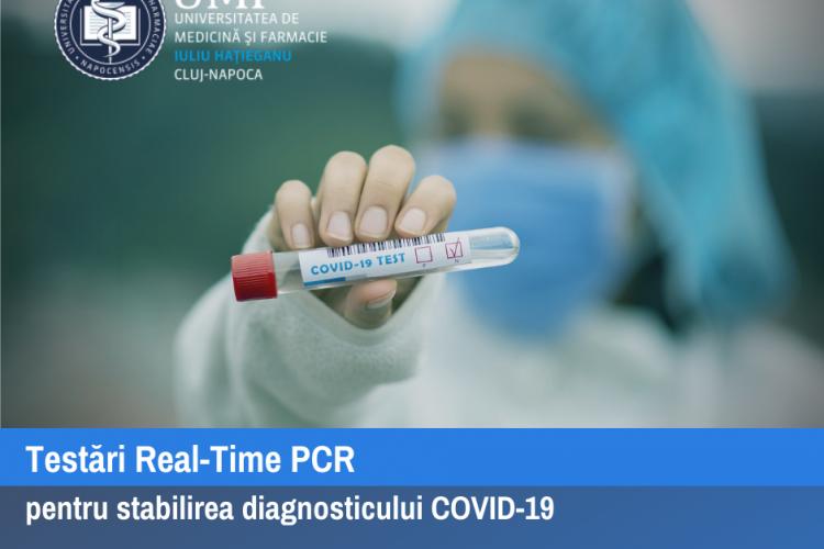 UMF Cluj face testări COVID-19. A primit acreditare. Unde se fac testările și cât costă