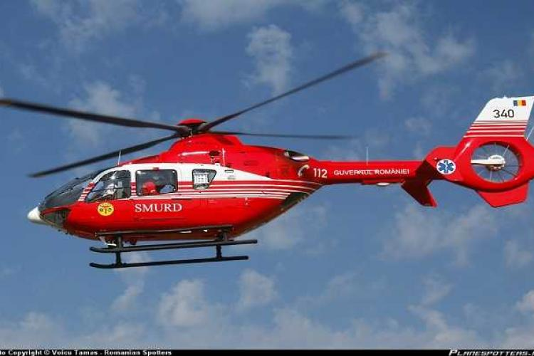 Clujean căzut de la peste 10 metri înălțime. A fost nevoie de intervenția elicopterului SMURD